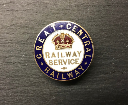 GD 786 GREAT CENTRAL RAILWAY FIRST WORLD WAR SERVICE BADGE.