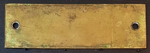 "VT 2854. G.W.R. BRASS SHELF PLATE ""BRIDGWATER BOX"""