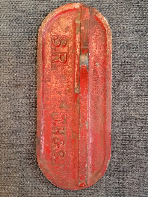 """VT 2767. SOUTHERN RAILWAY CAST LEVER PLATE EX REDHILL """"B"""""""