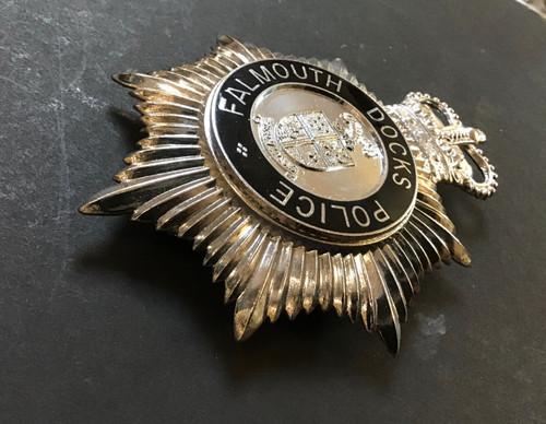 GD 378 FALMOUTH DOCKS POLICE HELMET PLATE