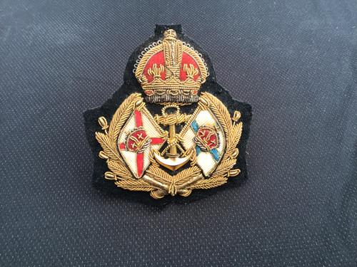 GD 631 MERCHANT NAVY OFFICER CAP BADGE RMSP Co & PSN Co