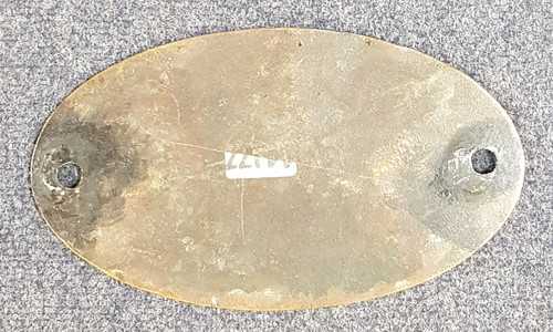 VT 2850. L.M.S. BRASS MAKERS PLATE DERBY 1929.