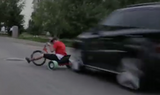 Drift Trike Hits Car | Must See