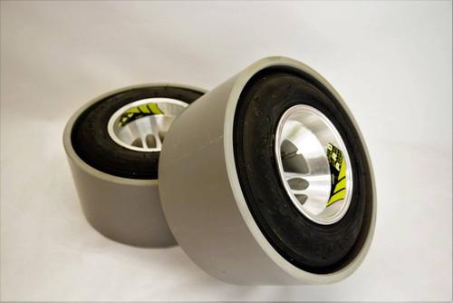 15mm Kart wheels / Gray pvc (Set of 2)