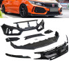 16-18 Honda Civic Type R Style Front Bumper with Grill