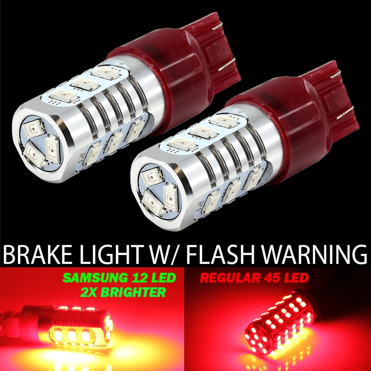 Red Flashing Brake light LED 7443 3157 1157