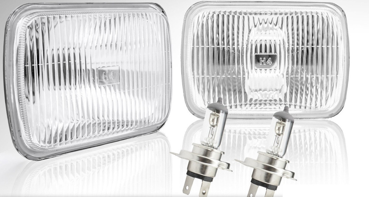 7x6 H6014//H6052//H6054 WHITE LED BLACK DIAMOND HEADLIGHTS SEMI SEALED CONVERSION