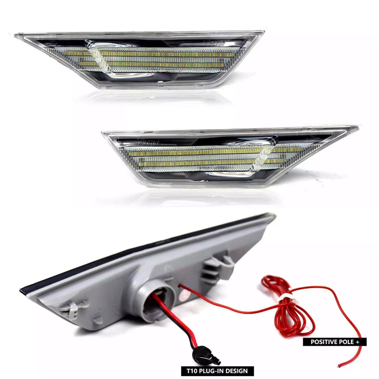 16-19 Honda Civic Front Side markers Clear / LED Switchback