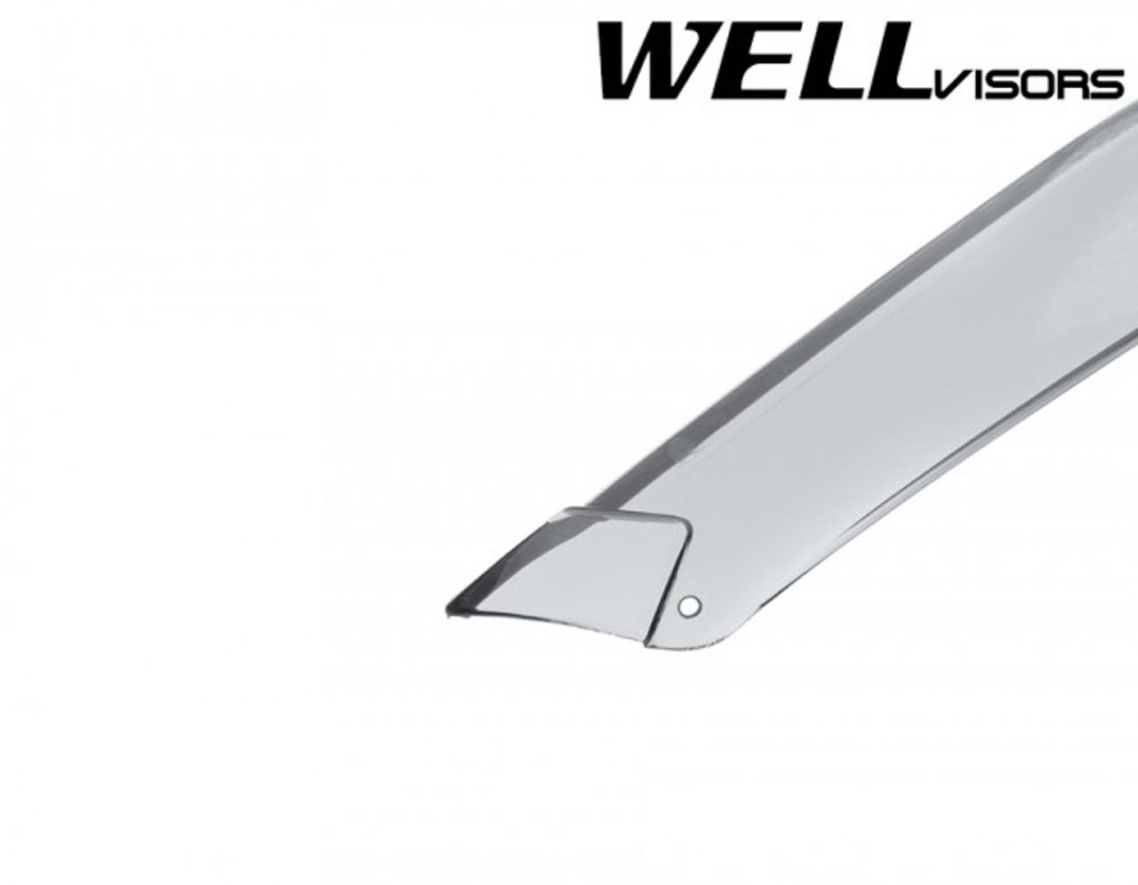 WELLvisors Scion xB 04-07 Side Clip on Window Visors Black