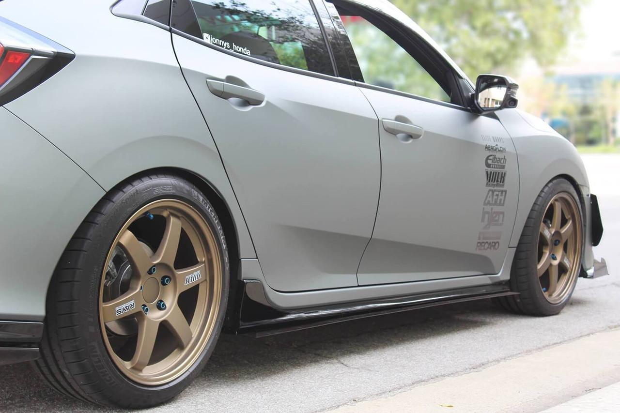 2017 2019 Honda Civic Hatchback Sedan Type R Aeroflow Dynamics Side Skirt Extensionv1 So Cal Accessories