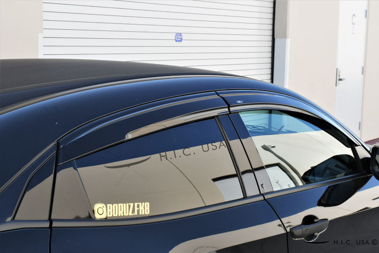 2017-2020 Honda Civic Hatchback Mugen Style Side Visors H.I.C.