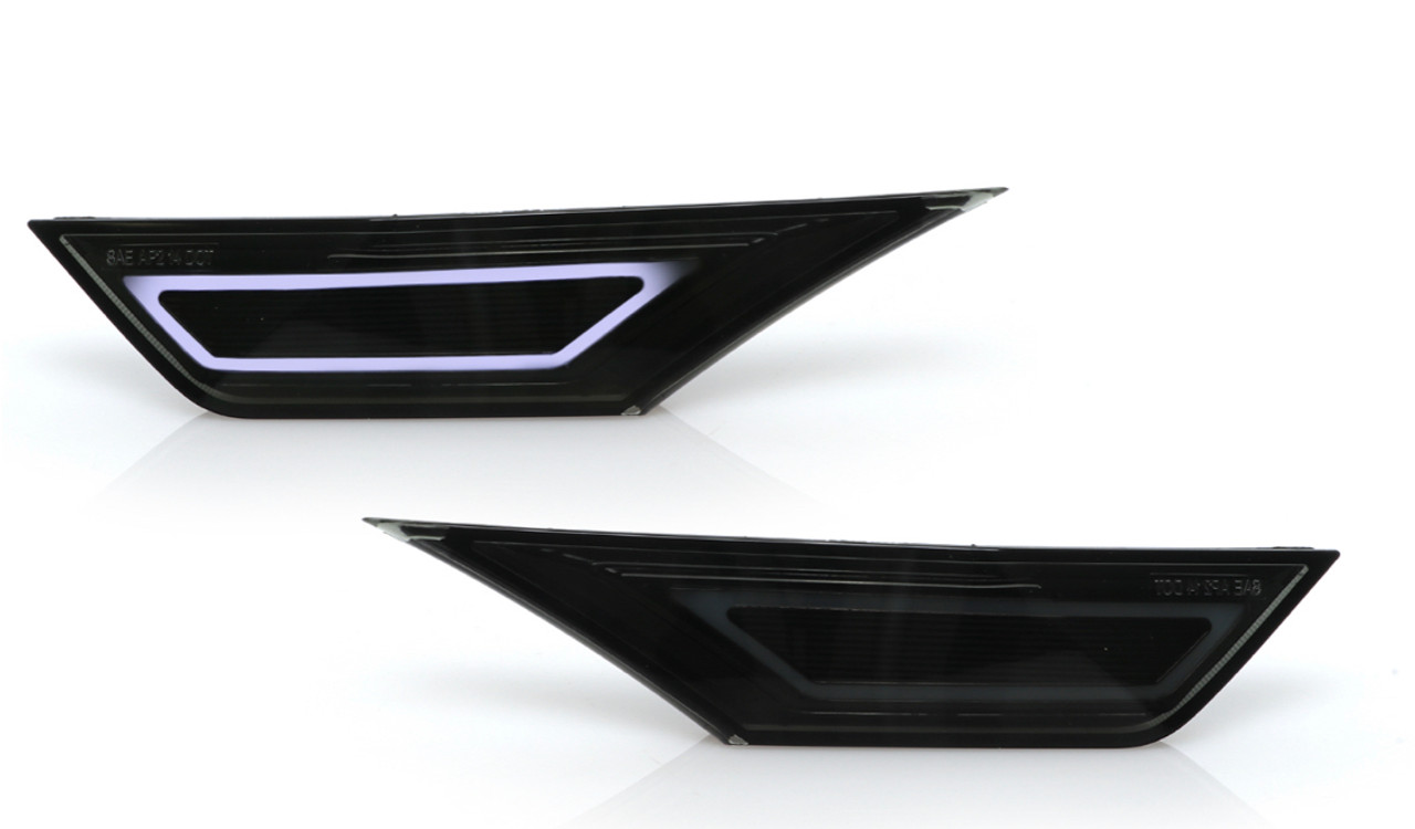 16-20 Honda Civic Smoked Front Side markers Built in LED DEPO
