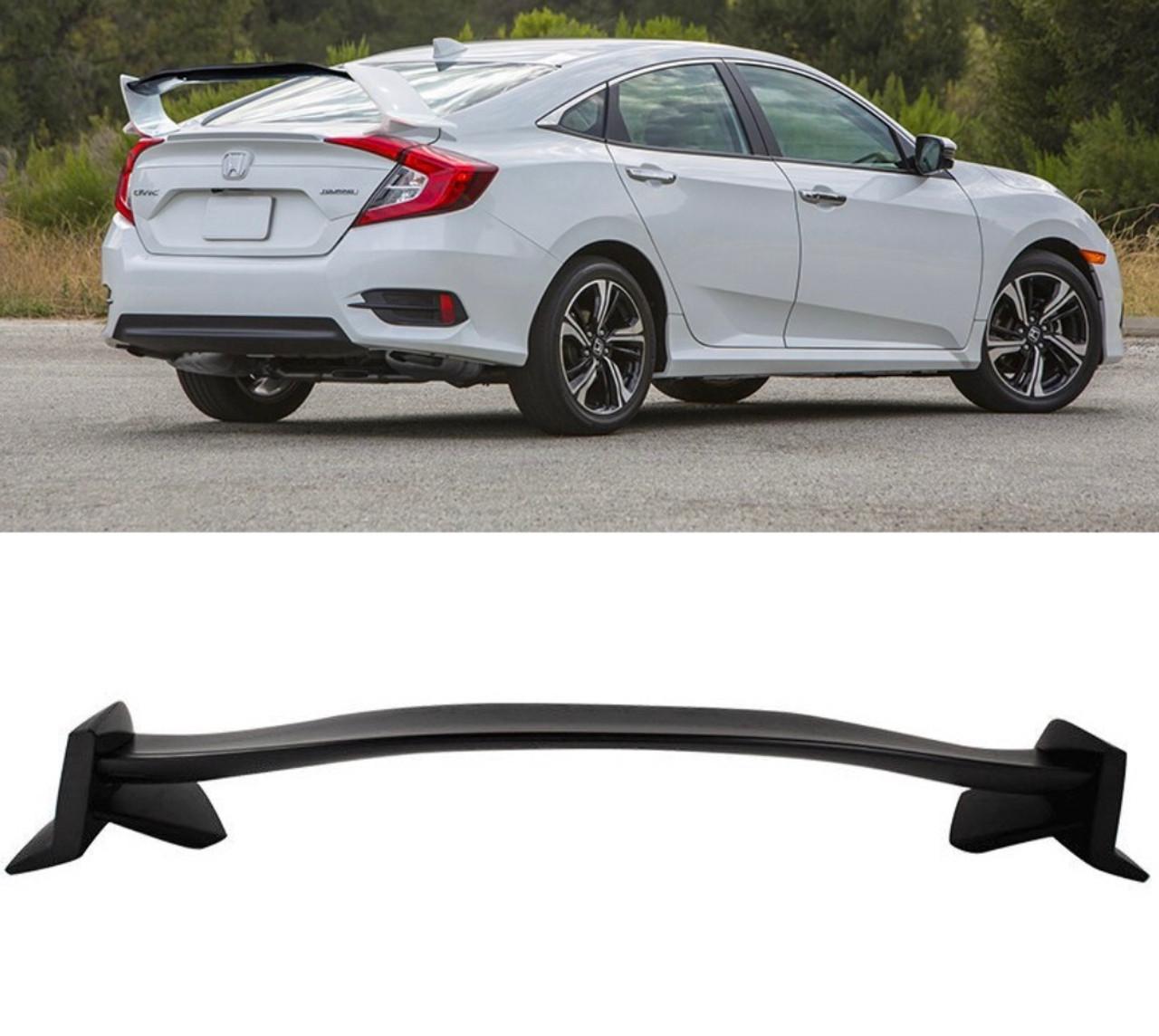 16-18 Honda Civic 10th X Sedan 4Dr Type-R Unpainted Trunk Spoiler