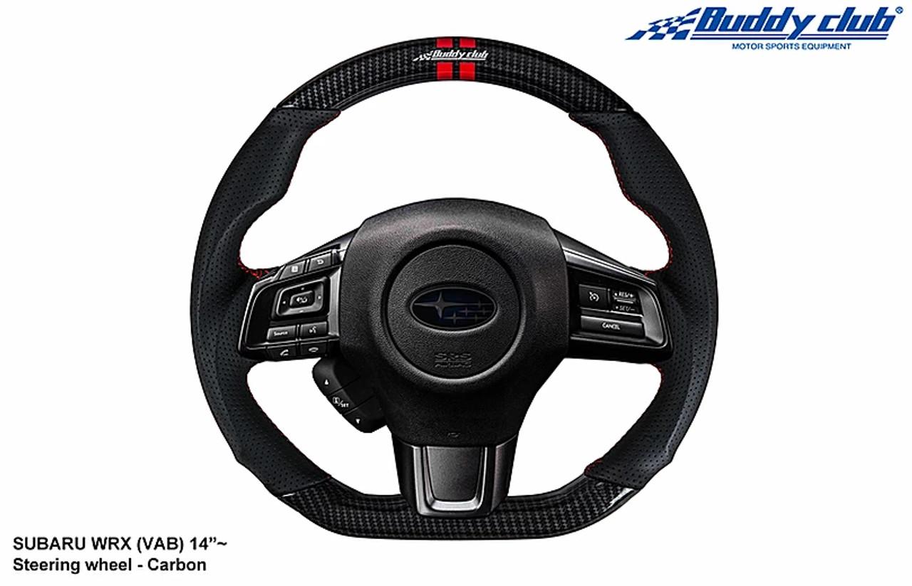 Buddy Club Carbon Fiber Sport Steering Wheel for 15-20 Subaru WRX & STI