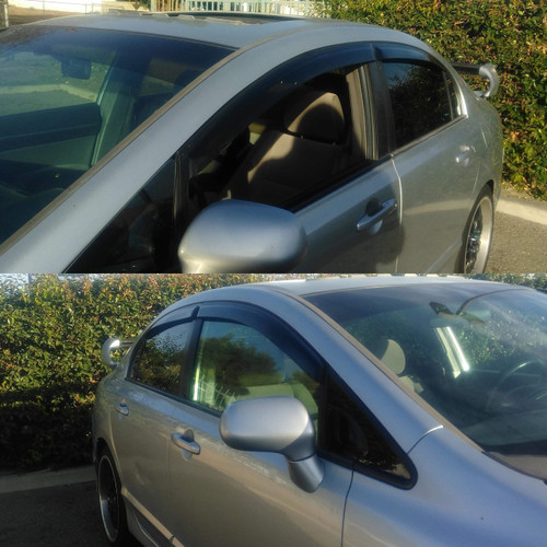 06-2011 Civic 4Dr- Side Visors