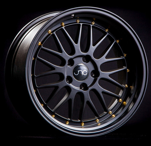 JNC005 Black Gold Rivets 20x10 5x120 et25 (SET OF 4)