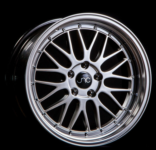 JNC005 Hyper Black Machined Lip 20x10 5x114.3 et25 (SET OF 4)