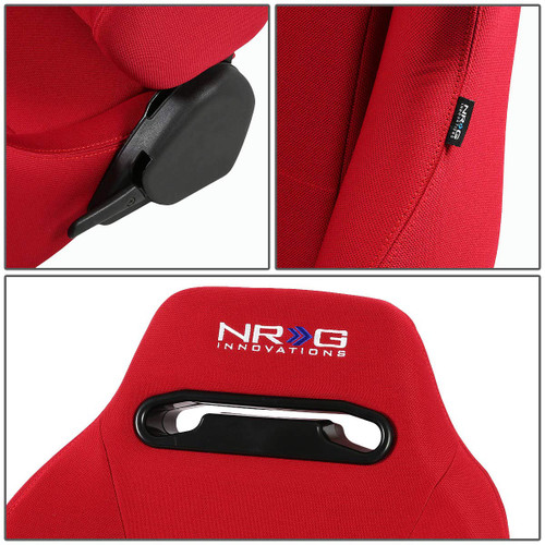 NRG Type R Style Universal Racing Seat (RED) Pair