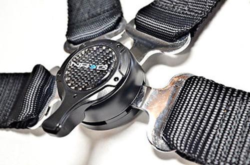 "NRG 4-Point Racing Seat Safety Harness Belt 2"" Cam Lock (Black)"