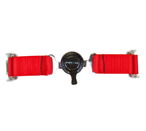"NRG 4-Point Racing Seat Safety Harness Belt 2"" Cam Lock (RED)"