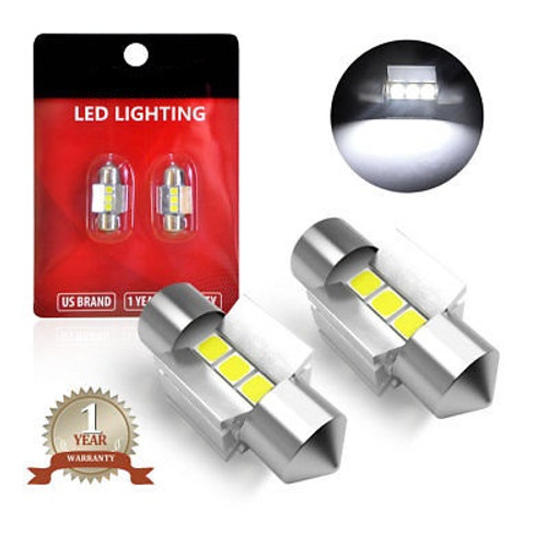 28mm LED Car Reading Light Roof Lamp 6000K 1 Year Warranty Canbus Free