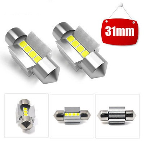 31MM Festoon LED Dome Trunk Map License Plate Light Bulb DE3175 DE3022
