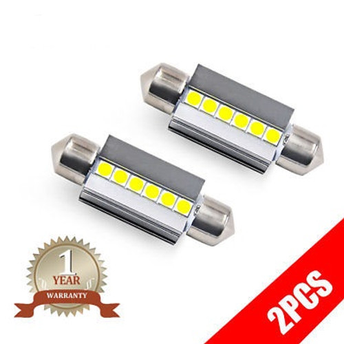 39MM C5W White LED Festoon Interior Bulbs Dome Map Light 6000K Cool White