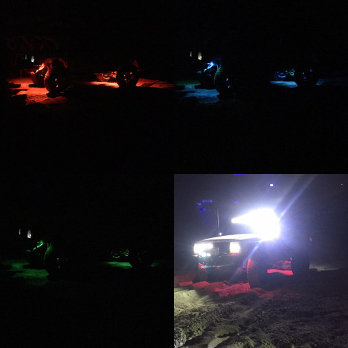 RGB 4 pieces Underglow Pods, 1 year Warranty