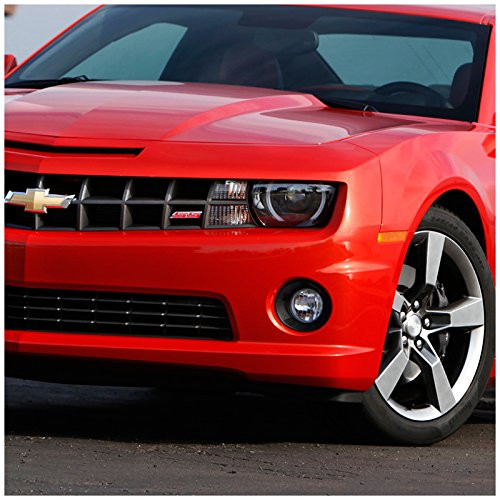 2010-2013 Chevy Camaro Clear Lens Fog Lights Bumper Lamps w/ H3 Bulbs