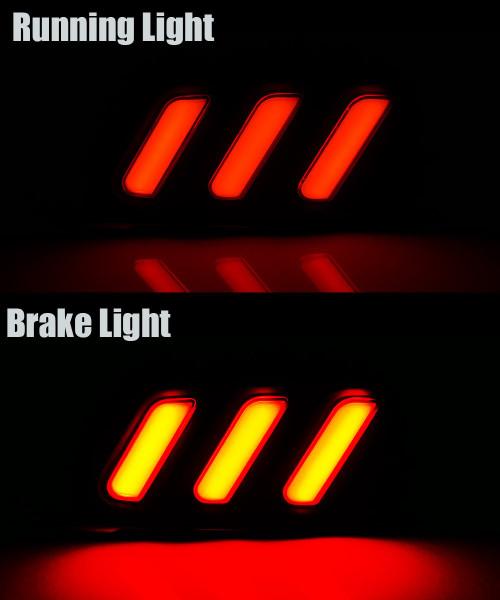 16-18 Honda Civic Sedan 4Dr Rear Bumper Brake Lamp Smoked Lens