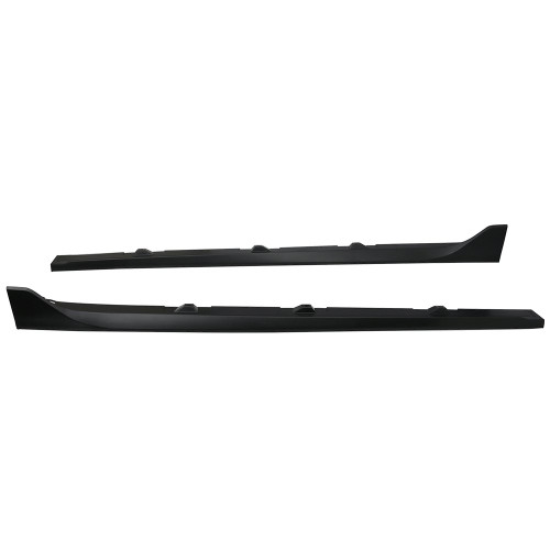 Side Skirts Fits 2016-2018 Honda Civic | Unpainted Black Poly-propylene PP Sport Step Extensions Bottom Line