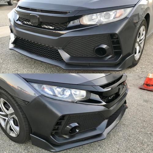 16-18 Honda Civic Type R Style Front Bumper