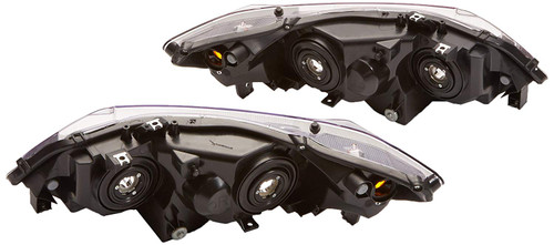 06-2011 Civic 2Dr Black Housing Clear Corner Headlights