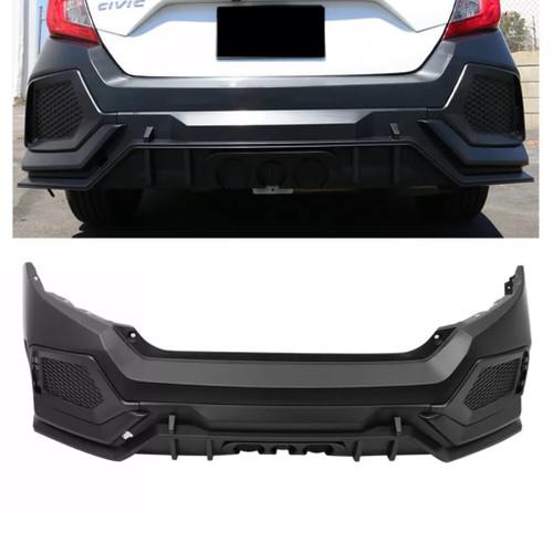 16-18 Honda Civic Type R Style Rear Bumper