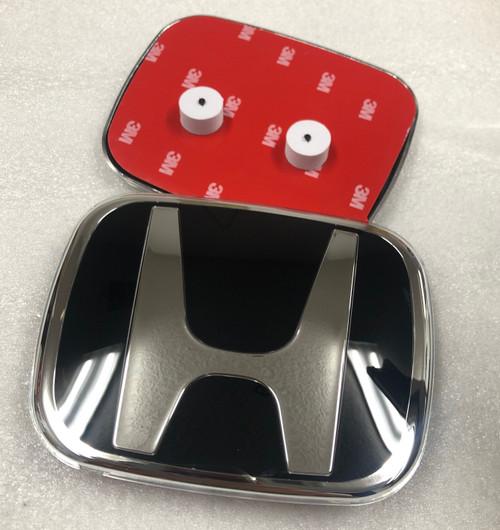 Black Honda H Emblem for Honda Front and Rear Aftermarket