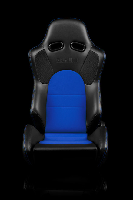 Braum ADVAN Series Black-Blue Cloth Seats(Pair)