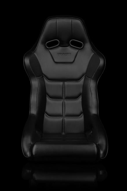 Braum Falcon-X Series Black Leatherette Bucket Seat(Single)