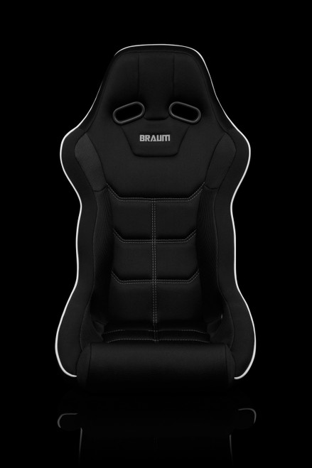 Braum Falcon-X Series Black and White Bucket Seat(Single)