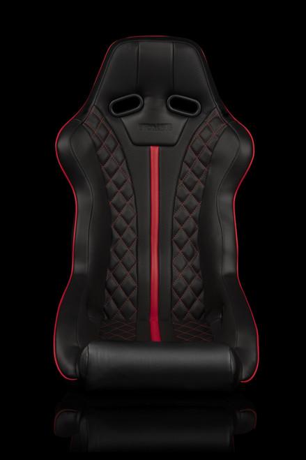 Braum Falcon-X Series Black and Red Diamond Edition Bucket Seat(Single)