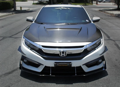 2016-2019 Honda Civic Coupe AeroFlow Dynamics Splitter V2