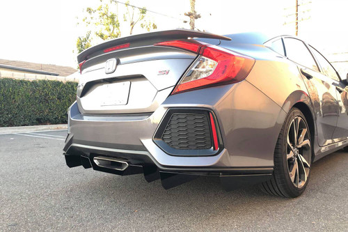 2016-2019 Honda Civic Sedan SI AeroFlow Dynamics Rear Diffuser V1