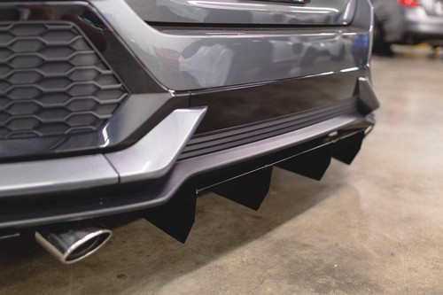 2017-2019 Honda Civic Hatchback(Non Sport) AeroFlow Dynamics Rear Diffuser Gloss Black