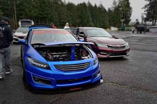 2008-2012 Honda Accord Coupe AeroFlow Dynamics Front Splitter V2