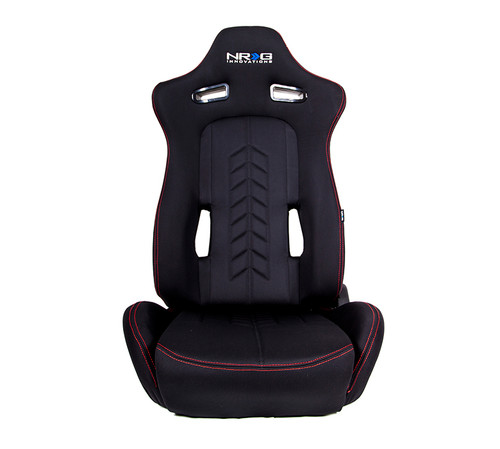 NRG Arrow Series Cloth Seats(PAIR)