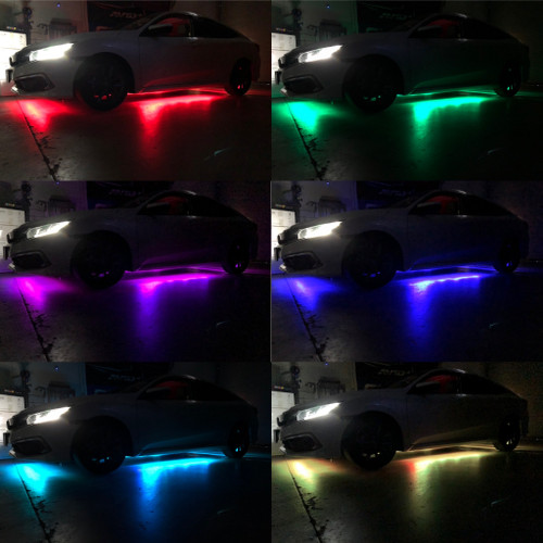 RGB 4 pieces Underglow Strips