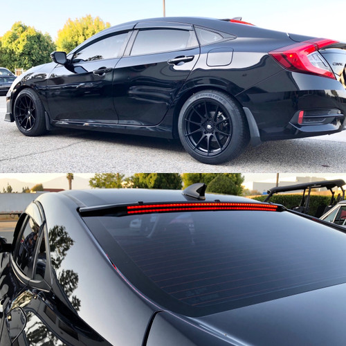 16-20 Honda Civic Sedan 4Dr Roof Spoiler With LED