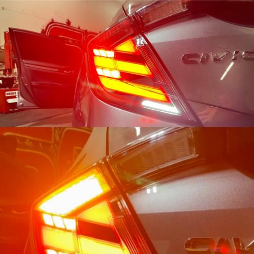 17-20 Honda Civic 10th Gen FK8 Type R Hatchback Mugen LED Tail Lights 4PC