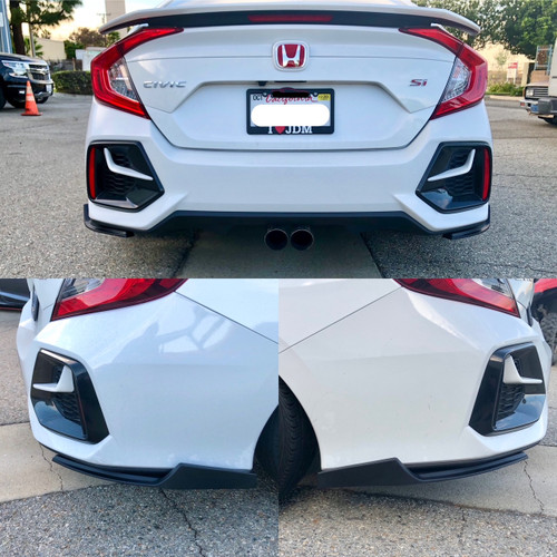 2016-2020 Civic Rear Spats 2pcs