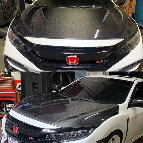 2016-2020 Honda Civic OEM Style Carbon Fiber Hood Seibon