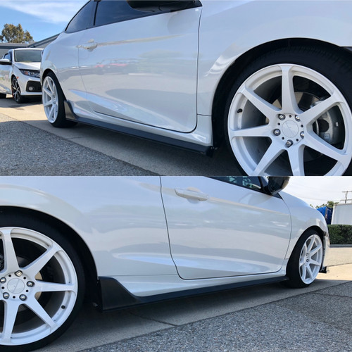 Side Skirts Add on 16-2020 Civic Type R 2DR CTR Style